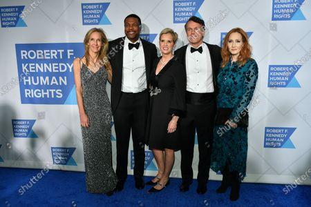 Globes Wendy Abrams, Chris Tucker, Kerry Kennedy, Glen Tullman, and J.K. Rowling