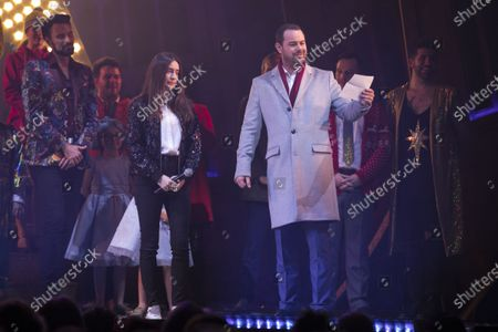 Rebecca Gordon and Danny Dyer (The Hollywood Producer) during the curtain call