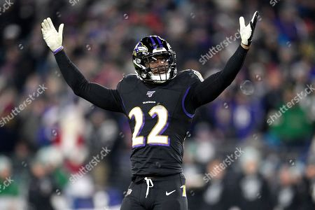 Baltimore Ravens cornerback Jimmy Smith reacts during the second half of an NFL football game against the New York Jets, in Baltimore