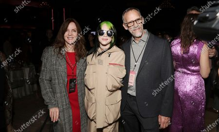 Stock Photo of Maggie Baird, Billie Eilish and Patrick O'Connell attend the Billboard Magazine: Women in Music 2019