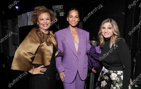 Stock Image of Deborah Lee, Alicia Keys and Deborah Curtis attend the Billboard Magazine: Women in Music 2019