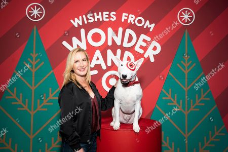 IMAGE DISTRIBUTED FOR TARGET - Angela Kinsey is seen celebrating the holidays at Wonderland!, Target's festive pop-up event, on in New York City. Open to the public Dec. 13 to Dec. 22, Wonderland! is a free, immersive holiday experience with shareable and shoppable moments that bring guests and their families together to celebrate all that the season has to offer