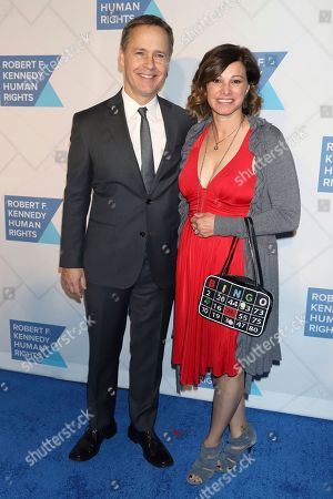 Stock Picture of Chad Lowe, Kim Painter. Chad Lowe, left, and Kim Painter attend the 2019 Robert F. Kennedy Human Rights Ripple of Hope Awards at the New York Hilton Midtown, in New York