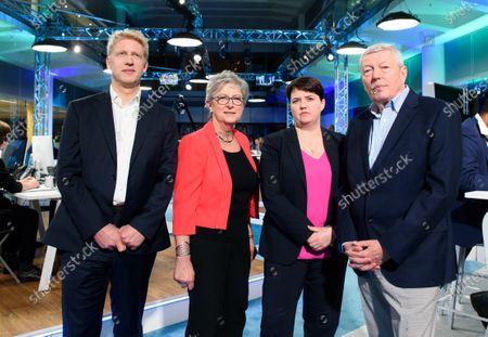 Jo Johnson, Gisela Stuart, Ruth Davidson and Alan Johnson