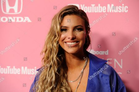 Lele Pons arrives at Billboard's Women in Music at the Hollywood Palladium, in Los Angeles