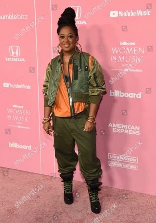 Rapsody arrives at Billboard's Women in Music at the Hollywood Palladium, in Los Angeles