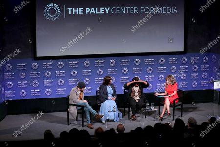 Aaron Paul, Nichelle Tramble (Exec Prod., Showrunner), Octavia Spencer (Exec. Producer), Sunny Hostin (Moderator)