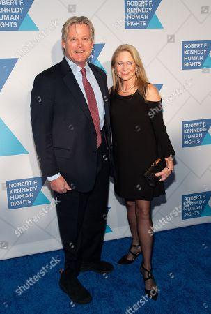 Stock Photo of Edward Kennedy and Katherine Anne Gershman