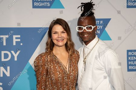 Stock Photo of Kathryn Erbe and Jamel Robinson