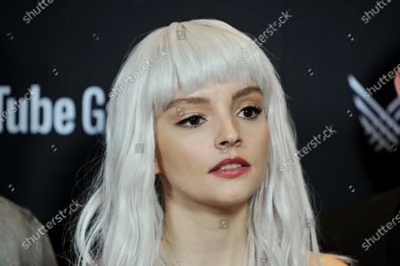 Lauren Mayberry, of the band CHVRCHES, attends the 2019 Game Awards in Los Angeles, California, USA, 12 December 2019.
