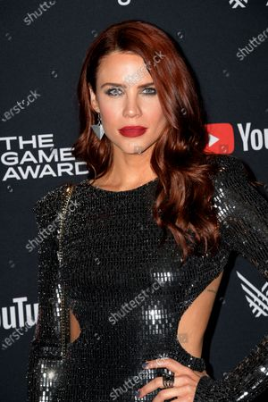 Stock Picture of Courtney Hope attends the 2019 Game Awards in Los Angeles, California, USA, 12 December 2019. The Game Awards, founded in 2014, is held to highlight creative and technical achievements in the worldwide video game industry and competitive gaming community.