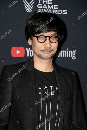 Japanese video game designer Hideo Kojima attends the 2019 Game Awards in Los Angeles, California, USA, 12 December 2019. The Game Awards, founded in 2014, is held to highlight creative and technical achievements in the worldwide video game industry and competitive gaming community.