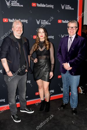 US video game producer Rod Fergusson, US voice actor Laura Bailey and XBOX Live director of programming Larry Hryb attend the the 2019 Game Awards in Los Angeles, California, USA, 12 December 2019. The Game Awards, founded in 2014, is held to highlight creative and technical achievements in the worldwide video game industry and competitive gaming community.