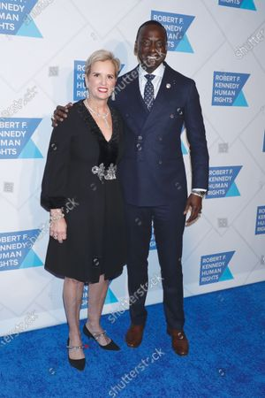 Stock Image of Kerry Kennedy and Yusef Salaam