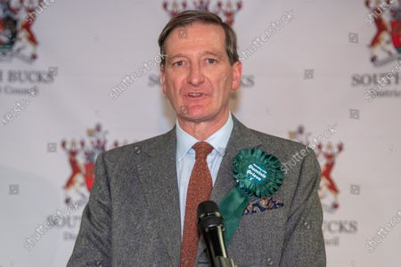 Independent candidate Dominic Grieve makes an emotional speech as he concedes defeat of the Beaconsfield constituency.