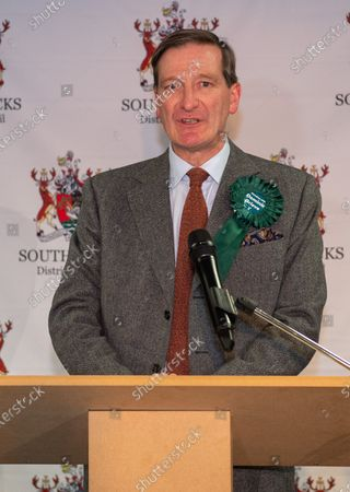 Independent candidate Dominic Grieve makes an emotional speech as he concedes defeat of the Beaconsfield constituency at the offices of the South Bucks District Council.