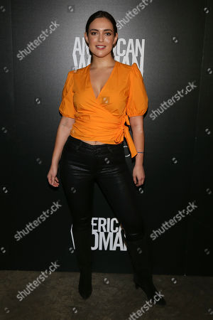 """Natalie Torres attends a special screening of """"American Woman"""", hosted by Gucci and The Cinema Society, at Metrograph, in New York"""