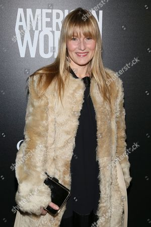 "Amy Astley attends a special screening of ""American Woman"", hosted by Gucci and The Cinema Society, at Metrograph, in New York"