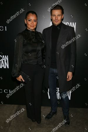 """Keytt Lundqvist, Alex Lundqvis. Keytt Lundqvist, left, and Alex Lundqvis, right, attend a special screening of """"American Woman"""", hosted by Gucci and The Cinema Society, at Metrograph, in New York"""