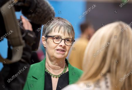 Molly Scott Cato, Green Party candidate, at The election count for the Stroud constituency