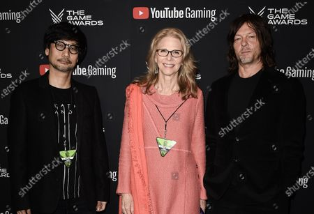 Stock Picture of Hideo Kojima, Lindsay Wagner, Norman Reedus
