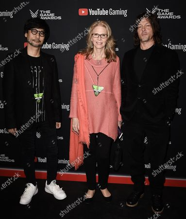 Stock Photo of Hideo Kojima, Lindsay Wagner, Norman Reedus