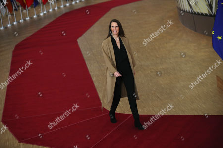 Stock Picture of Belgian Prime Minister Sophie Wilmes arrives for an EU summit in Brussels, . European Union leaders are gathering Friday to discuss Britain's departure from the bloc amid some relief that Prime Minister Boris Johnson has secured an election majority that should allow him to push the Brexit deal through parliament