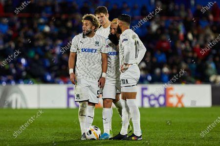(L-R) Uros Spajic, Alexandr Martynovich, Cristian Ramirez and Wanderson Maciel of FC Krasnodar