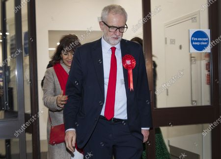 Editorial picture of Jeremy Corbyn leaves Labour party headquarters, London, UK - 13 Dec 2019