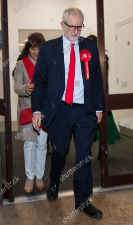 Editorial photo of Jeremy Corbyn leaves Labour party headquarters, London, UK - 13 Dec 2019