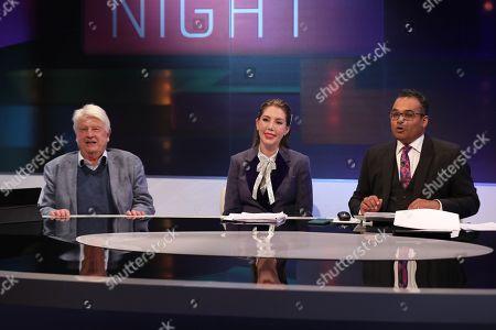 Stanley Johnson, Katherine Ryan and Krishnan Guru-Murthy