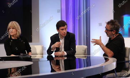 Rachel Johnson, Rory Stewart and David Baddiel