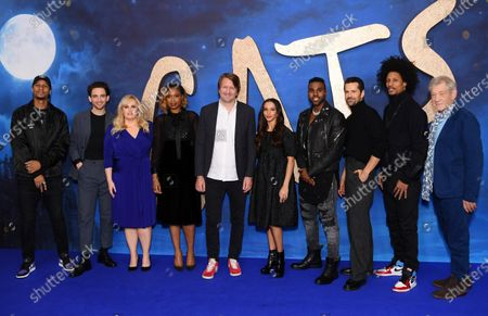 Larry Nicolas Bourgeois, Laurie Davidson, Rebel Wilson, Jennifer Hudson, Tom Hooper, Francesca Hayward, Jason Derulo, Robbie Fairchild, Laurent Bourgeois and Sir Ian McKellen