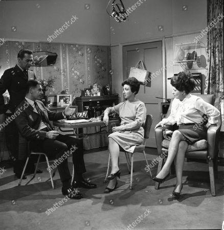 Bill Nagy (as Gregg Flint), Paul Maxwell (as Steve Tanner), Joan Francis (as Dot Greenhalgh) and Pat Phoenix (as Elsie Tanner)