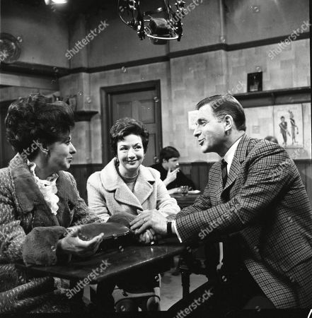 Pat Phoenix (as Elsie Tanner), Joan Francis (as Dot Greenhalgh) and Paul Maxwell (as Steve Tanner)