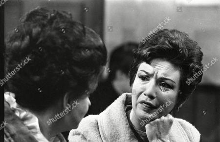 Pat Phoenix (as Elsie Tanner) and Joan Francis (as Dot Greenhalgh)