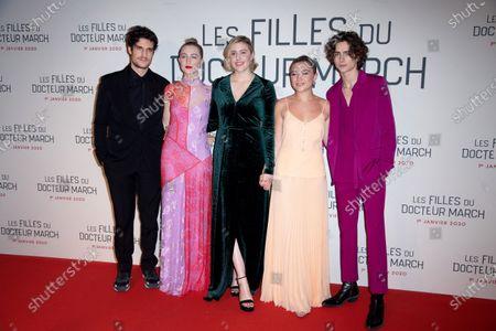 Louis Garrel, Saoirse Ronan, Greta Gerwig, Florence Pugh and Timothee Chalamet