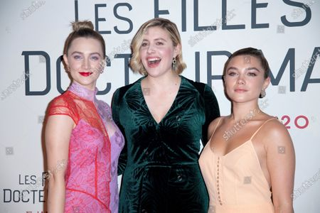 Stock Picture of Saoirse Ronan, Greta Gerwig and Florence Pugh