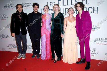 Alexandre Desplat, Louis Garrel, Saoirse Ronan, Greta Gerwig, Florence Pugh and Timothee Chalamet