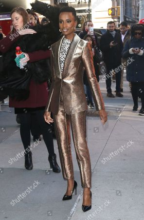 Editorial picture of Zozibini Tunzi out and about, New York, USA  - 12 Dec 2019