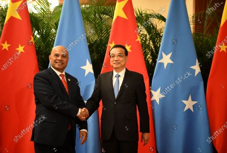 Editorial picture of Micronesian President David Panuelo in Beijing, China - 13 Dec 2019
