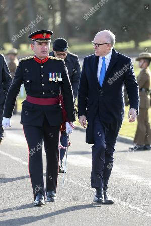 United States Ambassador to the United Kingdom, Woody Johnson IV arrives at The Sovereign's Parade at Royal Military Academy Sandhurst