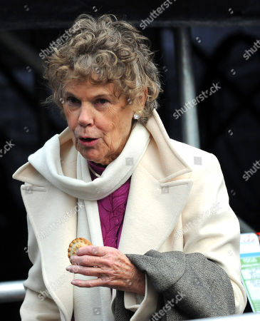 Stock Image of Kate Hoey on College Green outside the Houses of Parliament to comment on the election