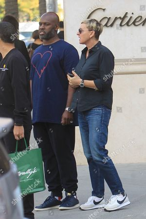 Corey Gamble and Ellen DeGeneres