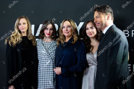 Georgia Tatum Connick, Sarah Kate Connick, Jill Goodacre, Charlotte Connick and Harry Connick Jr.