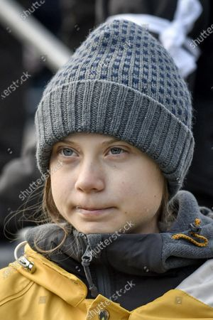 Editorial picture of Greta Thunberg visits Turin, Italy - 13 Dec 2019