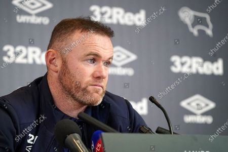Stock Picture of Wayne Rooney, Derby County,  faces the press at Pride Park