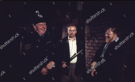 Betty Turpin is terrorised by Keith Lucas. William Moore as Cyril Turpin and David Webb as Keith Lucas