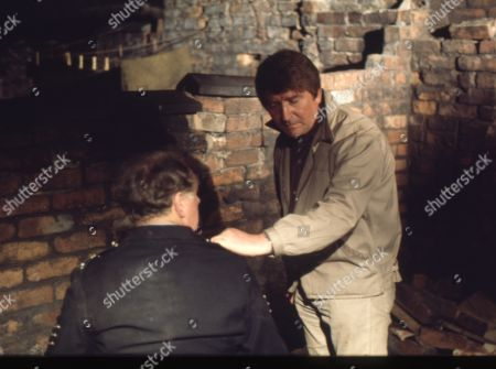 Betty Turpin is terrorised by Keith Lucas. William Moore as Cyril Turpin and Peter Adamson as Len Fairclough