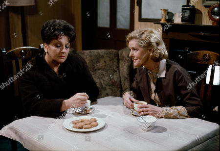 Betty Driver (as Betty Turpin) and Irene Sutcliffe (as Maggie Clegg)